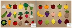 Felt vegetables and fruits set Felt toys are a good choice for a safe play. It gives multiple possibilities for different games like: • cooking, • gardening, • color naming and matching, • learning fruits and vegetables, • shop and sell • play food It can be used even as table or kitchen