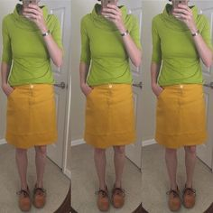 More #memademay action today. When I find a pattern I like I make it to death and these are two of my all time favorites-thus *another* @sewaholic #renfrew and *another* @grainlinestudio #mossskirt (this one made from a thrifted linen tablecloth). Both these pieces are very wearable and get heavy rotation. #mmmay17memademay,mmmay17,renfrew,mossskirtfeynman_sews