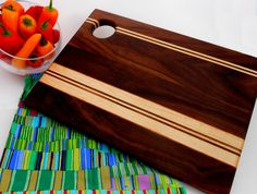 Premium Figured Walnut Cutting Board by PrairieOakStudios on Etsy