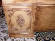 Overhaul Old Furniture With Wood Embellishments And Paint