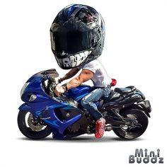 Awesome Motorcycle Artwork by @minibuddz