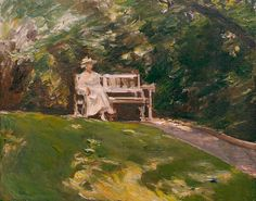 Max Liebermann (July 20, 1847 – February 8, 1935), Die Gartenbank', 1916.