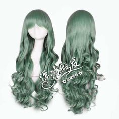 Peruca Feminina Verde Cosplay Lolita Frete Gratis - R$ 89,00 http://produto.mercadolivre.com.br/MLB-589690965-peruca-feminina-verde-cosplay-lolita-frete-gratis-_JM