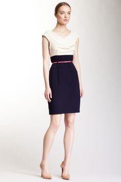 Calvin Klein - Cap Sleeve Structured Dress