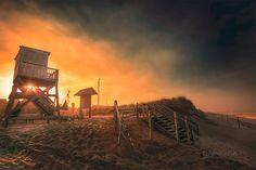 Atlantic Ocean Coast At Sunset, Nauset beach photography print for sale by Cape Cod photographer Dapixara.