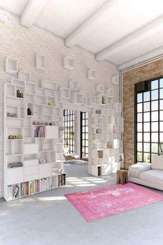 Una libreria versatile: Cubit, facile da montare e per tutti gli spazi - Cose di Casa