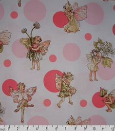 MM Morning Dots Rose - more Flower Fairies fabric heaven