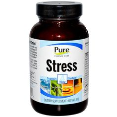 Pure Essence, Stress, 4 Way Support System, 60 Tablets  #stress #formula #support #balance #management #iherb #thingstobuy #shopping #relief