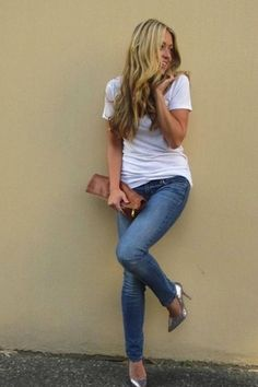 simplicity of jeans and a tee