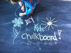 How to Make a DIY Kids Chalk Board