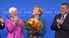 Big Election Win for Germany's Merkel (Raw Video)
