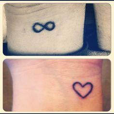 Wrist tattoos love the heart.
