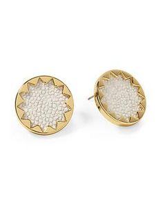 House of Harlow 1960 White Sand Sunburst Stud Earring | Piperlime
