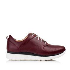 KACHOROVSKA / burgundy leather sneakers