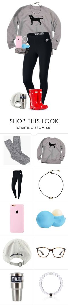 """""""ANNOUNCEMENT!!   RTD Please!"""" by one-of-those-nights ❤ liked on Polyvore featuring J.Crew, NIKE, Eos, Vineyard Vines, Ray-Ban, Everest and Hunter"""