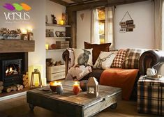 Simple ways to adjust your fall home decor whether you have a rustic, elegant or minimalist home. Here's 5 easy ways to add cozy to your fall home decor. - Home Decor Interior Design Living Room, Living Room Designs, Living Room Decor, Small Living Rooms, Cozy Living, Small Bedrooms, Guest Bedrooms, Living Spaces, Home Design
