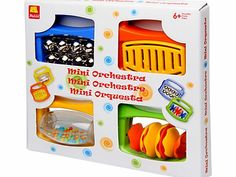 Halilit Mini Orchestra Set Introduce your little one to the world of music with this four piece set. Each brightly coloured shaker features a different sound for hours of entertainment. An ideal gift, this cute set will help de http://www.comparestoreprices.co.uk/baby-toys/halilit-mini-orchestra-set.asp