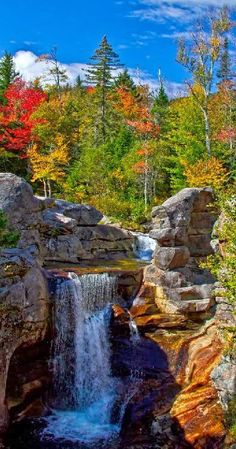 Screw Auger Falls In Grafton Notch State Park Maine - Home and Garden Design