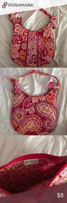 Vera Bradley handbag/purse orange and pink multi colored, small, Vera Bradley purse. only used once. Vera Bradley Bags Mini Bags