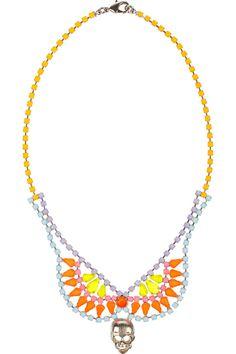 Tom Binns|Rainbows End painted Swarovski crystal necklace|NET-A-PORTER.COM