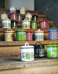 Emali Säilytyspurkit / Enamel Storage Jars #Muurla