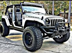 """""""BLACK OPS"""" JEEP W/ MATTE FINISHED GRILL, BUMPER & WINCH (Nicely Done)!"""