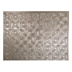 Fasade Lotus Brushed Nickel 18 inch x 24 inch PVC Backsplash Panel | The Home Depot Canada