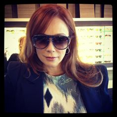 This is one hot red head sporting my new @Oliver Goldsmith & Claire Goldsmith Eyewear #berwick. I love when my friends come to visit. Victoria Pelas Lauren Holly love you ladies! Lauren is wearing shiny sparkly top by Olivera Savic. #ebo #eyewearbyolga #olivergoldsmith #mycglife #laurenholly #sunnies #yolo #swag #toronto #portcredit #mississauga #eyewear #glasses #friends