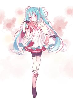 Vocaloid - Hatsune Miku (I love all the hints on sakura elements in her dress)
