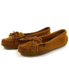 Minnetonka Driving Moccasins / Fringed Loafers / Brown Suede / Women's size 10 $42.00