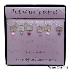 Wine Charms - impressive collection. Must visit...