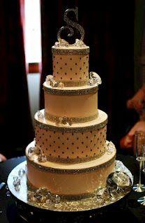 : Super Bling Diamond Wedding Cake