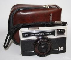 Vintage Camera Kodak Instamatic 77X Retro With Orginal Etui Classic Compact