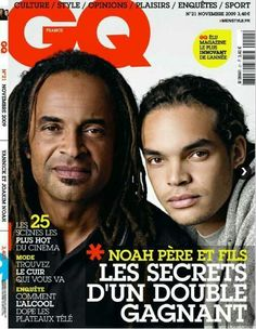 Chicago Bulls forward/center Joakim Noah is gracing the cover of GQ France. He appears on the cover with his father, Yannick Noah, a singer and former pr. Christopher Nolan, Gq, Joakim Noah, Plus 8, Cinematography, Father, Singer, France, Lineup