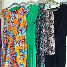 #minsgame day six - five dresses that no longer fit me and / or make me happy when I wear them off to the charity shop. #decluttering #minimalism #tryingtobeaminimalist #clearingout #streamliningmylife #paringback #byebyeclothes #charityshop