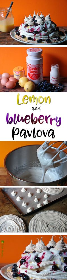 Lemon and blueberry Pavlova   H is for Home #recipe #meringue #baking