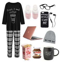 """""""Home day"""" by zoestar22 ❤ liked on Polyvore featuring DKNY, Topshop, Printable Wisdom, Victoria's Secret, Ray-Ban, Skullcandy, Speck and Local Heroes"""