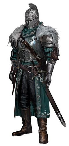 Concept art for the Faraam Warror. This character is the face of Dark Souls The armor itself bears a mix of Milanese, German Gothic and classical features. Dark Fantasy, Fantasy Armor, Final Fantasy, Armadura Medieval, Medieval Armor, Medieval Fantasy, Fantasy Character Design, Character Art, Templer