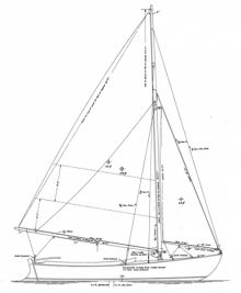 """A safe, versatile round-bottomed daysailer with generous freeboard and deep cockpit.  Construction Method: Carvel planked over steamed frames  Alternative construction: Cold-molded or strip  Lofting is required  Plans include 4 sheets. Design Specs Designer:  John Alden Year of Design:  1921 LOA:  18' 3"""" Beam:  6' 2"""" Draft:  (cb up) - 11"""" (cb down) - 4' Displacement:  1,800"""