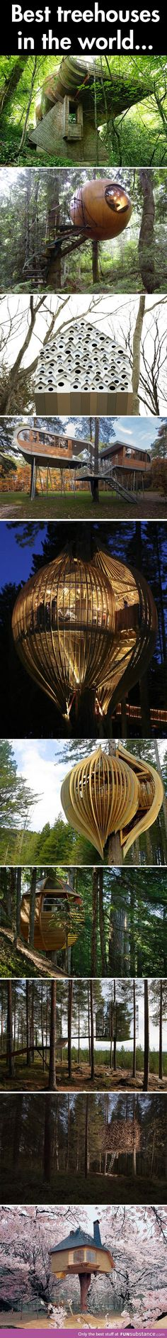 Tree houses of the world... yes please!