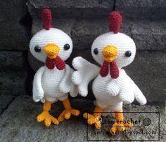 Haan ~ Zan Crochet, #haken, gratis patroon, Nederlands, haan, kip, Pasen, amigurumi, knuffel, speelgoed, #haakpatroon