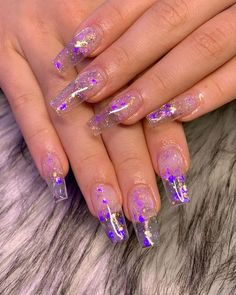 Top 32 Acrylic Nail Designs of 2020 : Page 15 of 32 : Creative Vision Design - Nails Clear Acrylic Nails, Clear Nails, Summer Acrylic Nails, Clear Nail Designs, Acrylic Nail Designs, Aycrlic Nails, Swag Nails, Coffin Nails, Lavender Nails