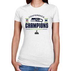 3e3cc6ae5 Seattle Seahawks 2013 NFC Champions Ladies Trophy Collection T-Shirt -  White Denver Broncos Gear