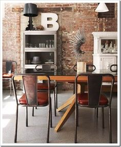 """Perfectly timed industrial setting - in addition to the 80's """"hipster art thing"""" on the table..... and perhaps the shabby white cupboard go away, if you want to be picky ;)"""