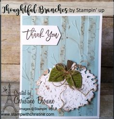 Thoughtful Branches - Bundle Stampin' Up! Branches, Stampin Up, Thoughts, Create, Cards, Decor, Decoration, Stamping Up, Maps