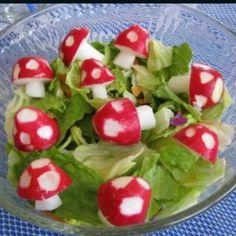 Gnome shroom salad