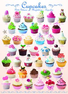 """Cupcakes"" ~ a 1000 piece jigsaw puzzle by Eurographics"