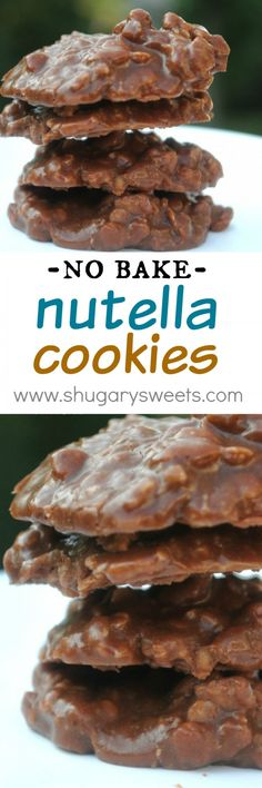 No Bake Cookies These NO BAKE Nutella Cookies are an easy recipe for kids and adults! Have you tried them yet?These NO BAKE Nutella Cookies are an easy recipe for kids and adults! Have you tried them yet? Nutella Cookies, No Bake Cookies, Baking Cookies, Nutella Biscuits, Nutella Brownies, Baking Recipes, Cookie Recipes, Dessert Recipes, Nutella Recipes No Bake
