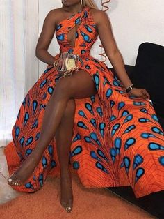 Ericdress African Fashion Floor-Length Sleeveless Standard-Waist Dress Fashion girls, party dresses long dress for short Women, casual summer outfit ideas, party dresses Fashion Trends, Latest Fashion # African Prom Dresses, African Fashion Dresses, Fashion Outfits, African Outfits, African Dress Styles, African Dresses For Women, Modern African Dresses, Ankara Styles, African Style Clothing