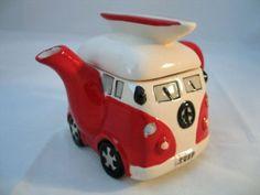 Camper Van and Surfboard Teapot